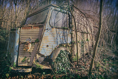 Woodland Camper (Martyn.Smith.) Tags: abandoned forest woodland photo flickr image decay rusty oldtimer oldtimers corrosion decaying campervan corroded urbex folie urbexfrance citroencampervan
