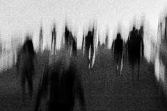 'Una sola moltitudine' (willy vecchiato) Tags: street bridge people blackandwhite abstract motion monochrome stairs walking pessoa bokeh walk fineart grain nightmare biancoenero monocromatico nikon1685 nikond7000