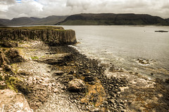 Basalt rock formation cliffs on the isle of Mull (oldkentucky85) Tags: sea cliff island scotland highlands ancient formation geology mull rugged basalt