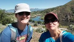Lisa and Jalila hiking (Aggiewelshes) Tags: june phone hiking lisa logancanyon stylo 2016 highlinetrail jalila