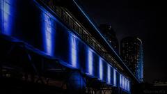 Vivid Sydney - DSC04162 A6000 (cleansurf2 Urbex) Tags: city blue wallpaper color colour night dark lights screensaver widescreen sydney vivid minimalism 16x9 leadinglines