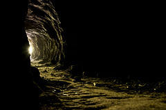 In the deep dark cave (Keartona) Tags: england sunlight dark cheshire tunnel spooky cave alderleyedge