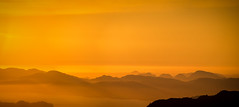 Sunset view from Ulriken mountain, Bergen, Norway (Paulius Bruzdeilynas) Tags: trip travel sunset sun mountain mountains color norway evening norge mood hiking sony calm hike norwegian layers bergen ulriken sonyalpha sonya7ii