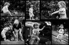 Life is...... (jayneboo) Tags: bw garden fun mono twins play ben smiles bubbles grandchildren laughter norah odc supercalifagilisticexpealidocious