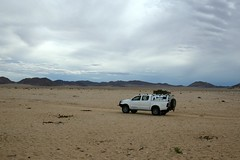 Lonely Road (zenseas : )) Tags: africa vacation holiday storm hot truck fun cool driving desert 4x4 dry windy stormy solo toyota lonely namibia fourwheel hilux selfdrive kleinaus ascocarhire