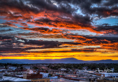 Fabulous Finally - Roanoke Sunset Twilight (Terry Aldhizer) Tags: city blue sunset sky mountains weather clouds twilight ridge roanoke terry fabulous finally aldhizer wwwterryaldhizercom
