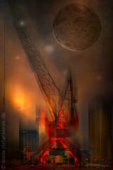 Moon and crane (radonracer) Tags: moon crane fantasy digiart
