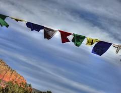 Prayer Flags (KnightedAirs) Tags: arizona mountain rock digital canon garden photography photo buddha sedona grand tibet powershot tibetan spiritual buddism epic hdr formations s100