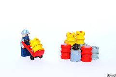 Moving Barrels (Devid VII) Tags: white detail soldier rebel war lego barrels details hangar barrel mini container minifig minifigs diorama vii containers moc drone 2016 devid foitsop devidvii