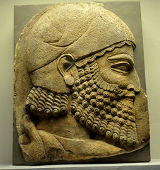 Ancient Assyrian soldier (mike catalonian) Tags: portrait sculpture face soldier profile relief ancientassyria ancientmesopotamia