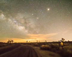 New Moon June 2016 #10 (MarcCooper_1950) Tags: road sky skyscape stars landscape outside outdoors nikon scenery moody desert dramatic astrophotography nightsky hdr lightroom milkyway starlight autofocus longeposure d810 desertnight simplysuperb marccooper litforeground aurorahdr