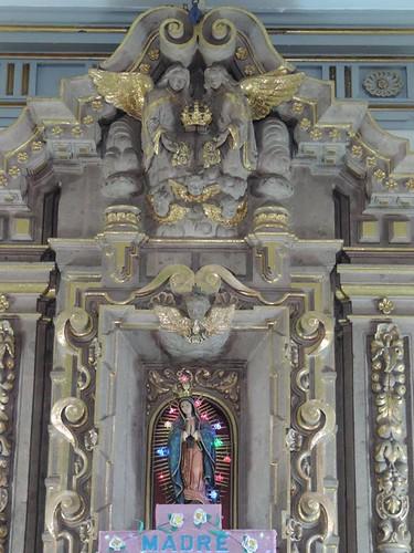 Guadalupana, Altar Mayor de la Capilla del Sagrario, Templo de San Lucas Evangelista, Iztapalapa, Cdad. de México, CDMX.