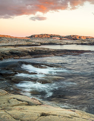 Westcoast of Sweden (p.josefsson) Tags: light sunset sea seascape nature water colors amazing cabin rocks waves sweden westcoast
