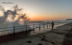 155-Editrz (Bev Cappleman) Tags: seascape sunrise waves wave seawall whitby splash breakingwave splashingwave