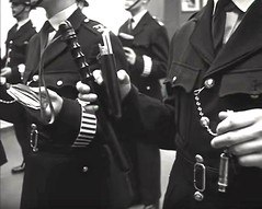 Circa 1950's/1960's London, UK. Metropolitan Police Constables Present Their 'Appointments' To The Duty Inspector Whilst On Parade Before Leaving The Station To Go On Patrol. (sgterniebilko) Tags: wood uk london open police parade 1950s monarch 1957 1960s 1970s 1950 truncheon allegiance londonpolice scotlandyard metropolitanpolice newscotlandyard appointments metpolice onduty impartial inuniform lignumvitae policelondon early1970s ukpolice woodoflife policeregulations policeprotection policetruncheon policewhistle reportbooks