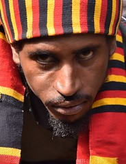 Wolayta Colours, Ethiopia (Rod Waddington) Tags: africa portrait people man color colour male outdoor african traditional tribal afrika ethiopia tribe afrique ethiopian thiopien wolayta