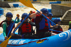Over the bump (radargeek) Tags: whitewater district rafting okc boathouse