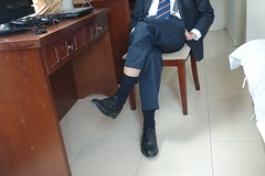 What do you think? (polmas2010) Tags: black shoe sock tie suit oxford loafer dressshoe captoe