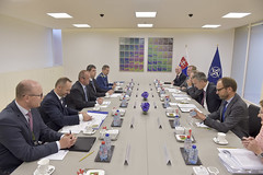 Bilateral meeting with the Minister of Defence of Slovakia (NATO) Tags: brussels belgium jens slovakia stoltenberg