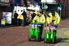 together we will clean this city.. (teedee.) Tags: road city this police double we clean together will council sweepers psni