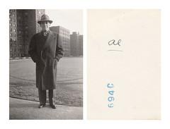 Al (Goran Patlejch) Tags: found photo man 1949 1940s housingproject projects brick america newyork nyc usa portrait young boy