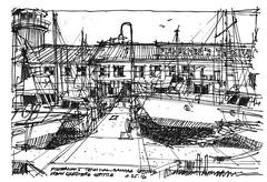 Fishermans Terminal_Dock 8 (andika.murandi) Tags: seattle sketch sketchbook ballard fishermansterminal urbansketchersseattle