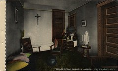 Front: Private Room, Borgess Hospital, Kalamazoo, Mich. (kplcommons) Tags: hospital private bed room postcard nuns patient crucifix borgess kalamazoopubliclibrary