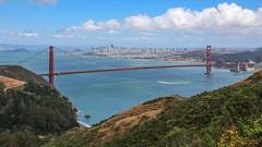 Golden Gate Bridge from Marin Headlands, California (davidcmc58) Tags: sanfrancisco bridge bay hawk hill goldengate marincounty