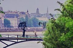 Paris Juin 2016 - 260 sculptures sur le Pont des Arts (paspog) Tags: sculpture paris france statue seine arts statues pont sculptures inondation crue pontdesarts inondations crues