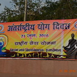 Celebration of International Yoga Day at Vinodini Park, VBU Campus