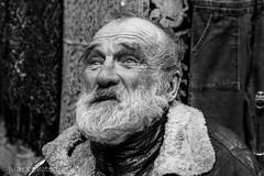 Dreaming of youth (judethedude73) Tags: street old people white man black brick london candid elderly lane unposed