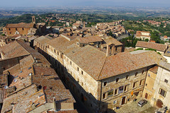 Montepulciano: in the heart of Tuscany (Northern Adventures) Tags: old trip houses summer italy tower ancient italia view watch scenic july medieval journey tuscany sight montepulciano toscana exploration hilltop settlement watchtower