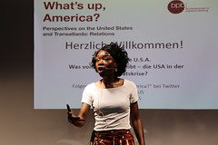 What's up, America? (Institute for Cultural Diplomacy (ICD)) Tags: red music usa berlin america germany deutschland concert panel united institute ballroom summit conference states discussion interview cultural symposium diplomacy