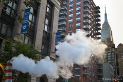 Steam in New York (Laura Barreyro) Tags: newyork steam empirestate