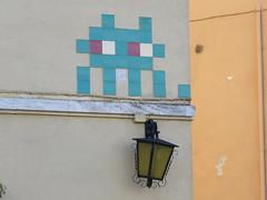 Space Invader RA_02 (tofz4u) Tags: streetart green tile big italia mosaic spaceinvader spaceinvaders mosaico vert invader italie ravenna mosaque artderue ravenne ra02