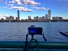 Behind the scenes ((Jessica)) Tags: summer boston timelapse massachusetts charlesriver newengland behindthescenes joby gorillapod sonynex5t