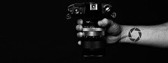 (Donald Palansky Photography) Tags: camera arm hand sonyslta99v sigma50mmf14dghsmartlens apieceofme