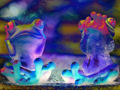 Frogs on Ice (JangoFeldman) Tags: photomanipulation photoshop effects waves surrealism surreal humour textures frogs layers psychedelic awardtree crazygenius pixabay picmonkey jangofeldman