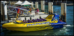 Body Shaker (TOXTETH L8) Tags: water speedboat jetty australia circularquay newsouthwales sydneyharbour pontoon