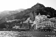 Amalfi (CO's Photography) Tags: italy sun sea coast amalfi city bw color naples blue hills
