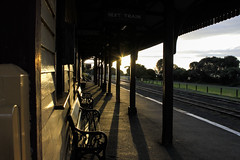 Railway Station (LittleMok - Lois) Tags: old station shadows railway australia victoria seats queenscliff 22apr13