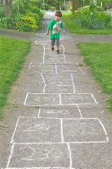 Catcher Hopscotch I (Catcher & Co.) Tags: oregon portland newspaper chalk hopscotch catcher hopscotchcourse