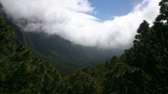 Caldera de Taburiente, La Palma. (Xamu7) Tags: trees mountains nature beautiful clouds photography volcano noedit xperia streamzoo