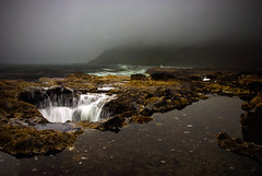 Thor's Well (markofphotography) Tags: ocean cliff seascape water beautiful beauty clouds oregon danger death waterfall dangerous waves pacific crash tide deep pacificocean oregoncoast thor tidepools cloudscape pacificcoast hightide chasm churn capeperpetua siuslawnationalforest thorswell capeperpetuastatepark