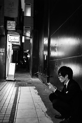 A night break in Ginza (fabiolug) Tags: street leica nightphotography light shadow people urban blackandwhite bw man black monochrome mobile japan shop night 35mm person japanese tokyo ginza blackwhite alley asia sitting shadows streetphotography rangefinder summicron soba monochrom biancoenero sidealley leica35mm leicam 35mmsummicronasph leicasummicron summicron35mmf2asph 35mmf2summicronasph summicronm35mmf2asph mmonochrom leicammonochrom leicamonochrom