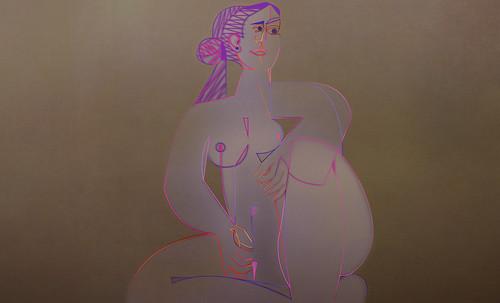 "Mujer Sentada, geometrización de Pablo Picasso (1953), abstracción de Roberto Real de León (2013). • <a style=""font-size:0.8em;"" href=""http://www.flickr.com/photos/30735181@N00/8805322281/"" target=""_blank"">View on Flickr</a>"