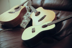 Acoustic Lounge (randomac) Tags: lighting music martin ukulele guitar burgundy maroon lounge smooth ii taylor acoustic 5d strings instruments kala