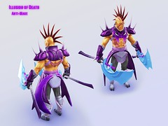 Anti-Mage Illusion of Death Front n Back (shushibah) Tags: 2 game death belt steam workshop armor weapon shoulder anti mage manta dota offhand illsion antimage