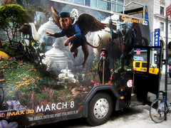 OZ the Great and Powerful Bus Billboard AD 9459 (Brechtbug) Tags: street new york city nyc portrait woman bus lady movie poster square frank star monkey flying action near witch oz wizard secret great disney double billboard l agent times witches avenue powerful baum 8th decker 46th standee 2013