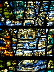"""Work"".  Landscape. (Glass Angel) Tags: work stainedglasswindow tewkesburyabbey tomdenny2002"